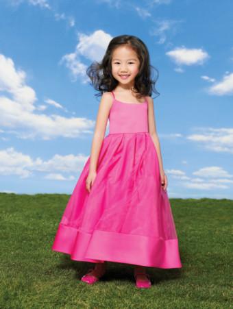 8,9,10 yaş küçük hanımlar için Lila renkli abiye modeli