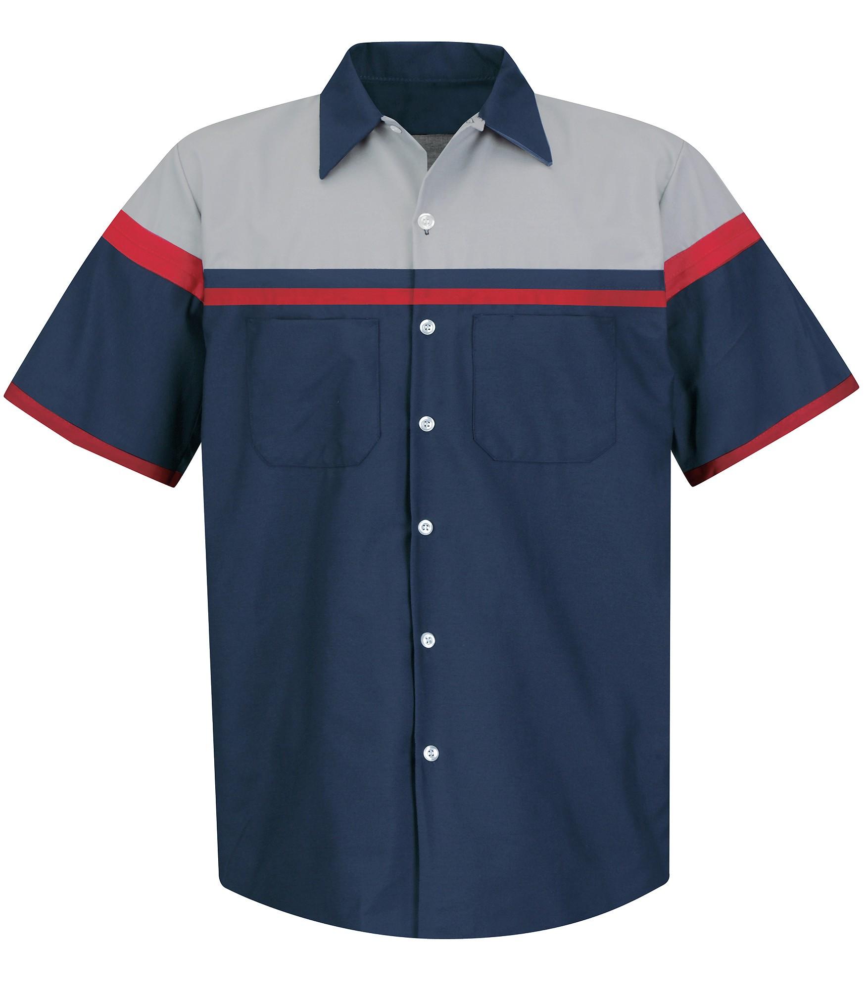 Amp us red kap short sleeve performance technician shirt for Red kap motorsports shirt