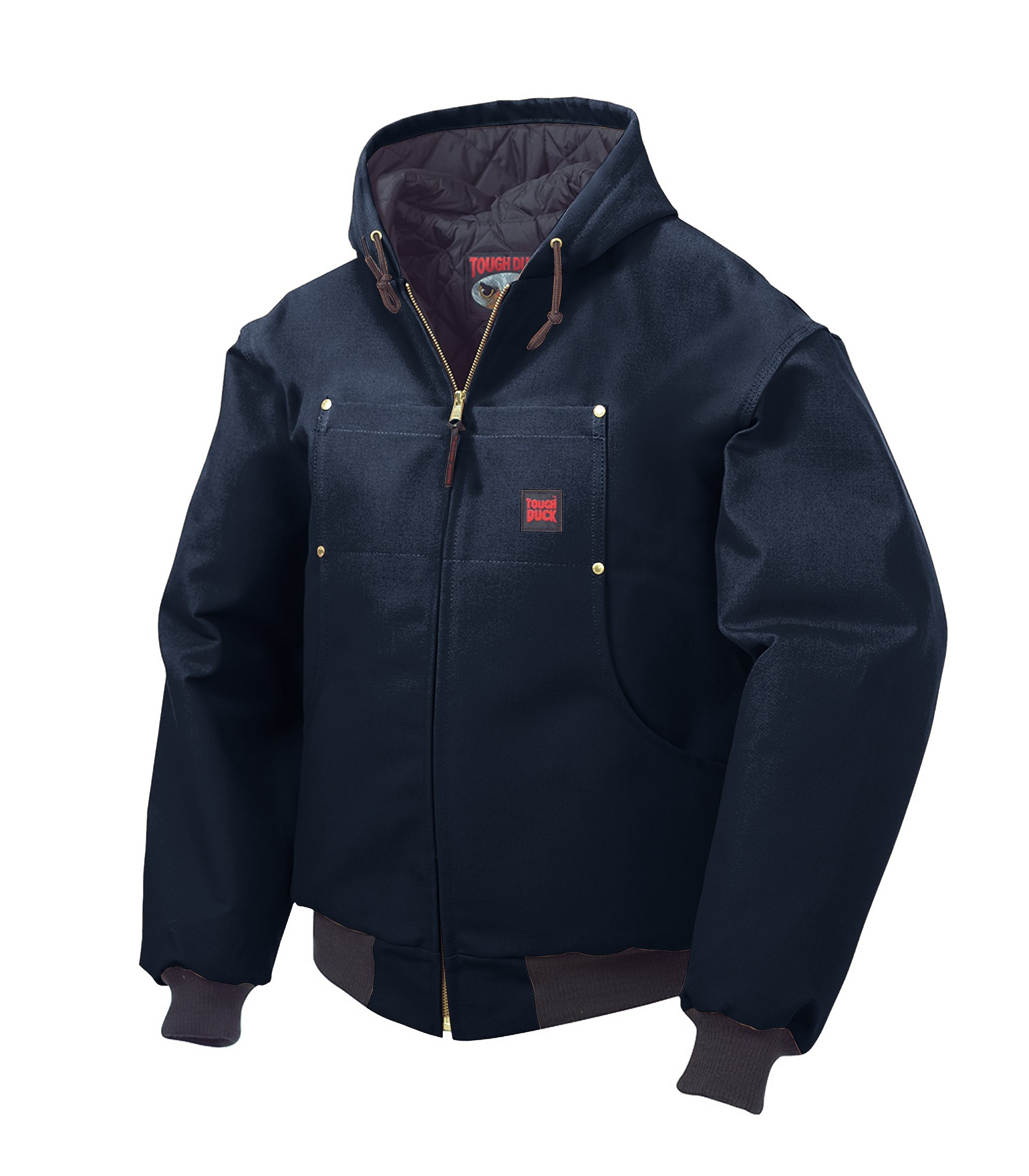Amp Ca Tough Duck Quilt Lined Bomber With Hood
