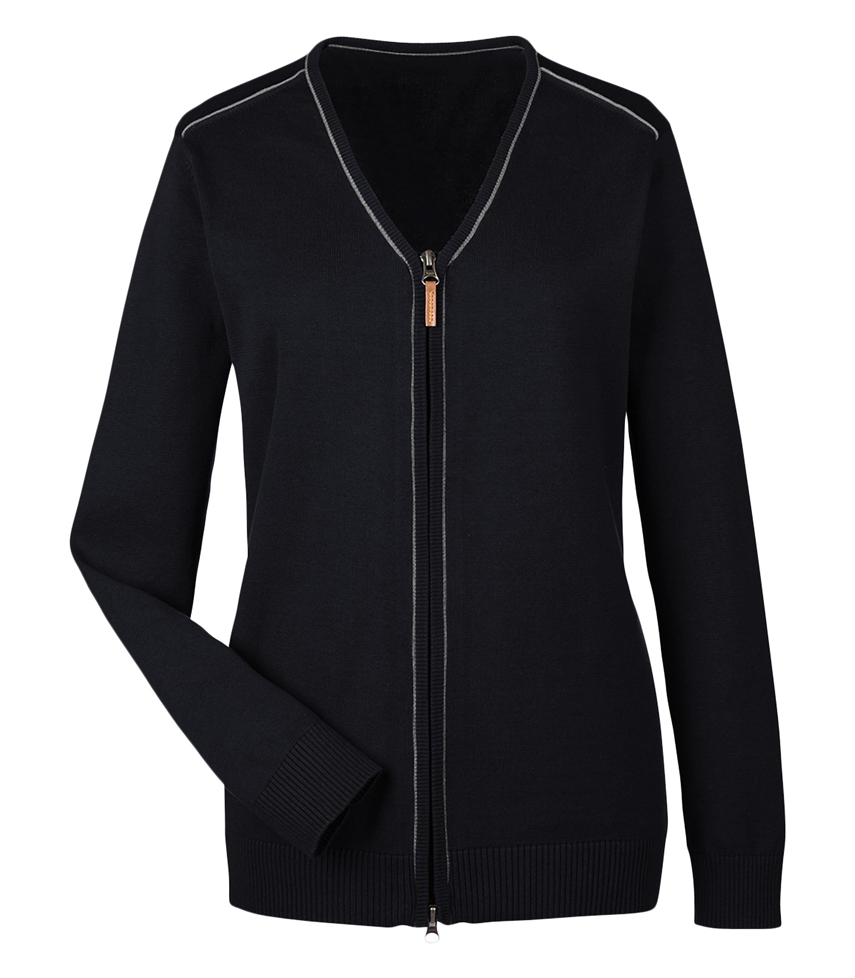 9d9655bda8 ... Devon   Jones® Manchester Ladies Fully Fashioned Full-Zip Sweater.  Zoom. Loading zoom