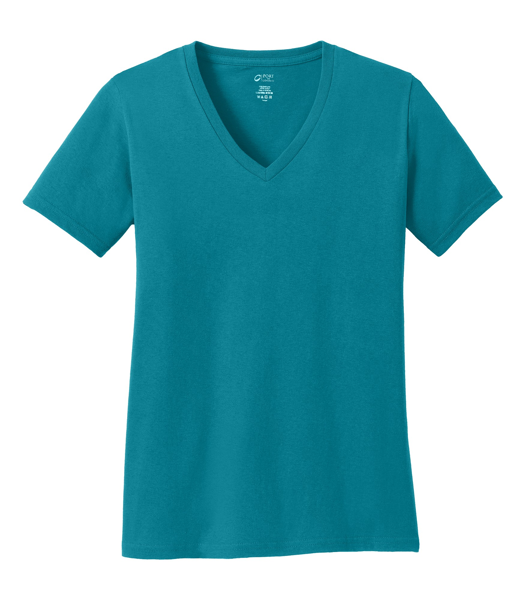 2b1de0add208 ... Port & Company® Ladies 5.4-oz 100% Cotton V-Neck T-Shirt. Zoom. Loading  zoom