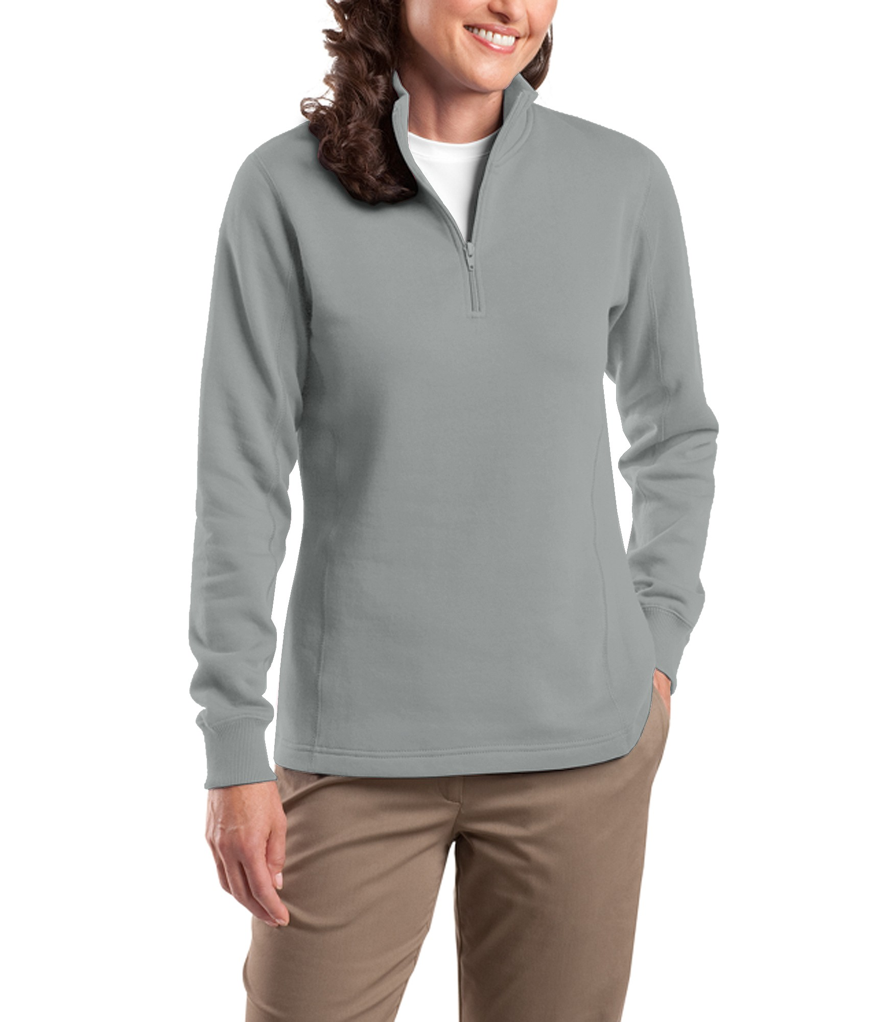 Growth Energy Sport Tek Ladies 1 4 Zip Sweatshirt A stylish feminine fit and flatlock stitching details make this sweatshirt stand out. growth energy sport tek ladies 1 4 zip sweatshirt