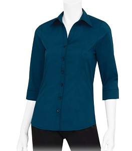 c0cfca8e53b AMP_US | Chef Works® Women's Finesse 3/4-Sleeve Fitted Shirt