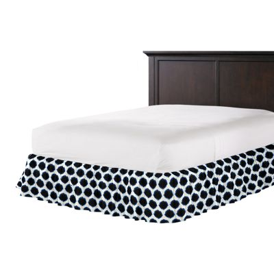 Black & Blue Dot Ruffle Bed Skirt