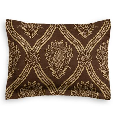 Brown Medallion Trellis Sham