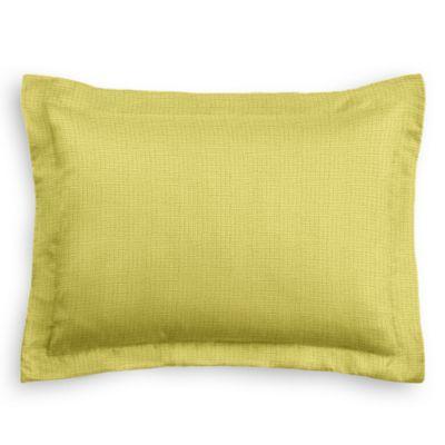 Lime Green Linen Sham Pillow Cover