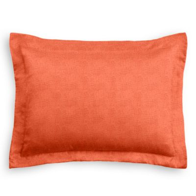 Solid Coral Linen Sham Pillow Cover
