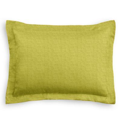 Chartreuse Green Linen Sham