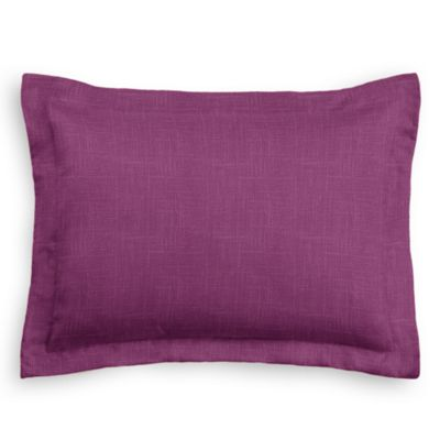 Magenta Purple Linen Sham Pillow Cover