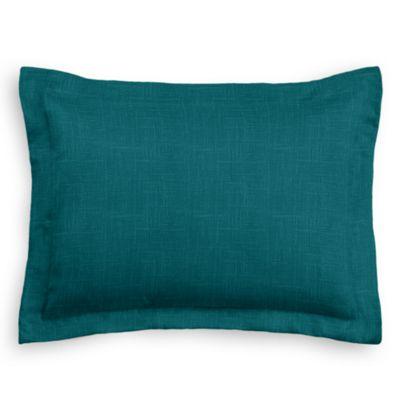 Dark Teal Linen Sham Pillow Cover
