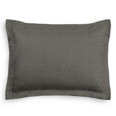 Charcoal Gray Linen Sham