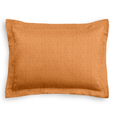 Burnt Orange Linen Sham