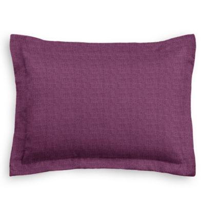 Magenta Purple Linen Sham