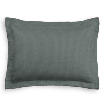 Charcoal Slubby Linen Sham