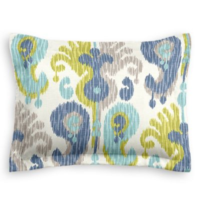 Aqua, Blue & Green Ikat Sham