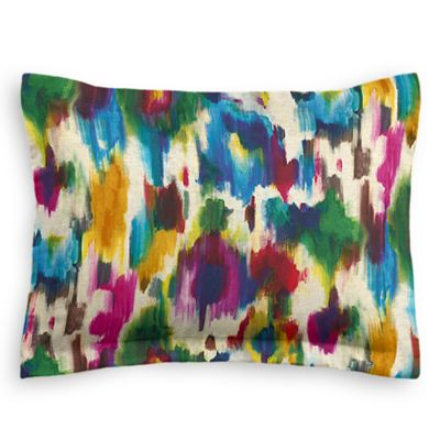 Multicolor Watercolor Sham Pillow Cover