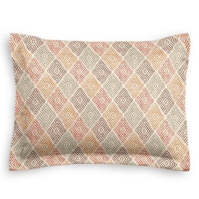Orange Diamond Block Print Sham