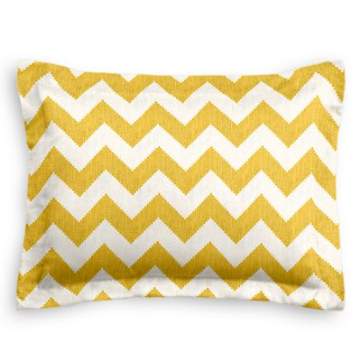 Bright Yellow Chevron Sham