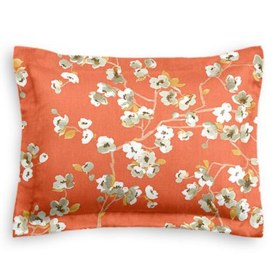 Orange Cherry Blossom Sham