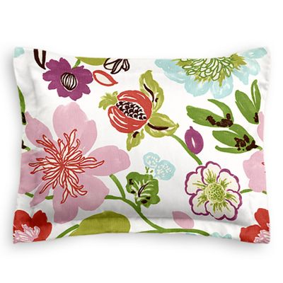 Pink & Purple Floral Sham Pillow Cover