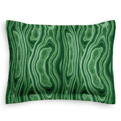 Marbled Green Malachite Sham