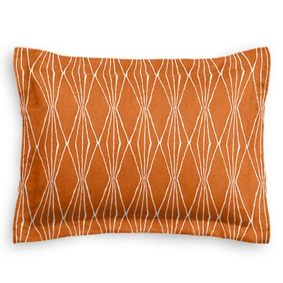 Burnt Orange Diamond Sham