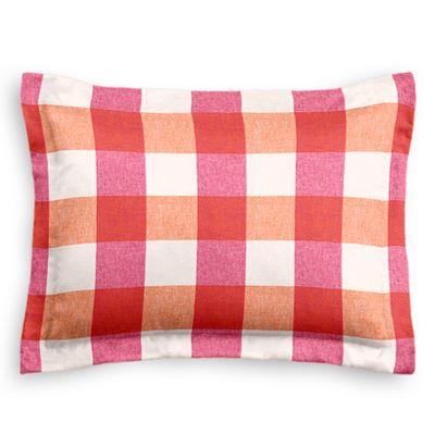 Pink & Orange Buffalo Check Sham Pillow Cover