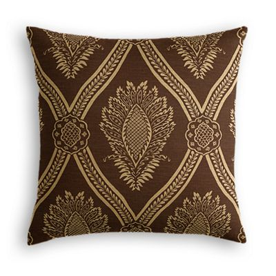 Brown Medallion Trellis Euro Sham