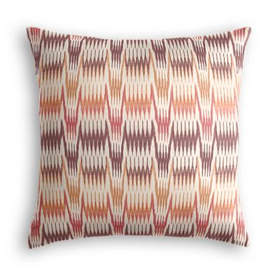 Orange & Pink Flame Stitch Euro Sham