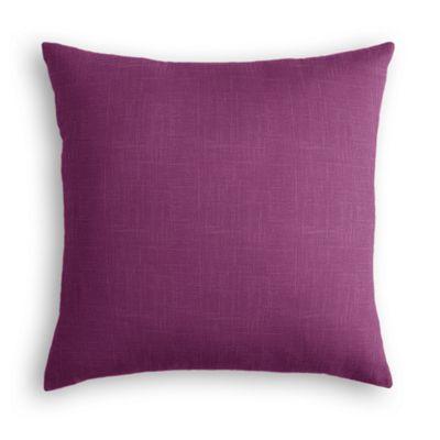 Magenta Purple Linen Euro Sham, Simple