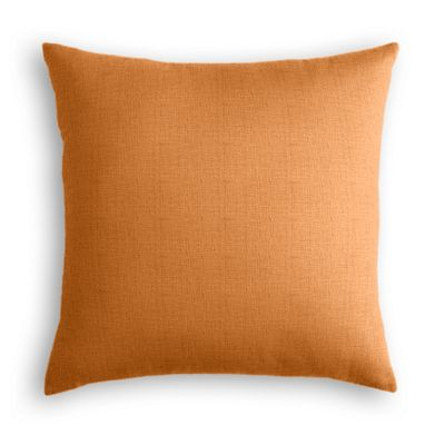 Burnt Orange Linen Euro Sham