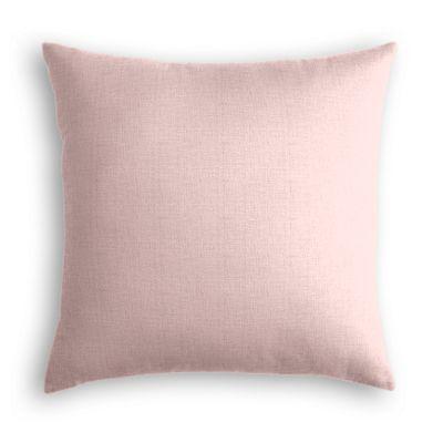 Pastel Pink Linen Euro Sham