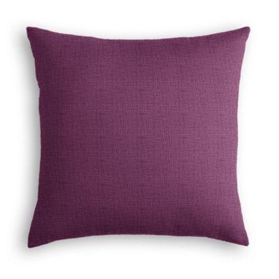 Magenta Purple Linen Euro Sham