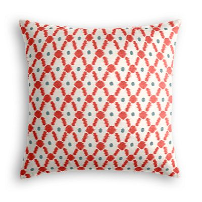 Red Ikat Diamond Euro Sham