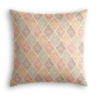 Orange Diamond Block Print Euro Sham