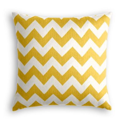 Bright Yellow Chevron Euro Sham