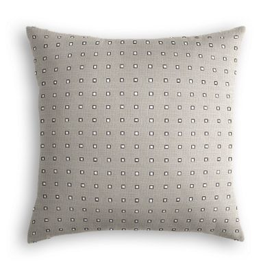 Silver Studded Taupe Euro Sham