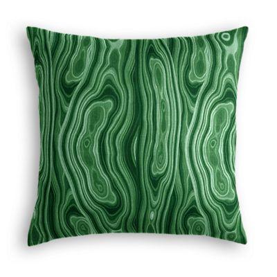 Marbled Green Malachite Euro Sham, Simple