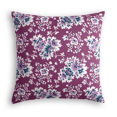 Purple & Teal Leaf Euro Sham
