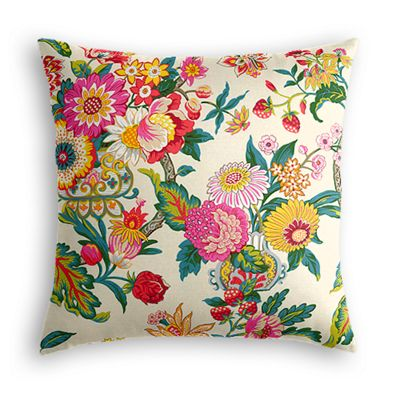 Candy-Colored Chinoiserie Euro Sham, Simple