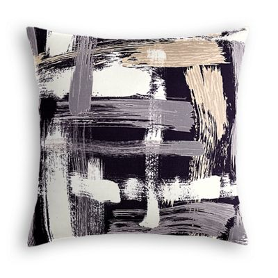 Black & White Brushstrokes Euro Sham