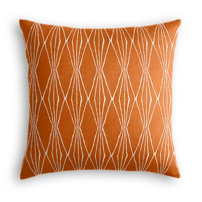 Burnt Orange Diamond Euro Sham
