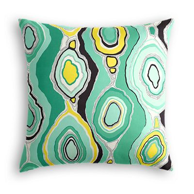 Lime Green & Yellow Abstract Euro Sham