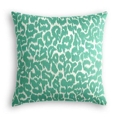 Bright Green Leopard Print Euro Sham