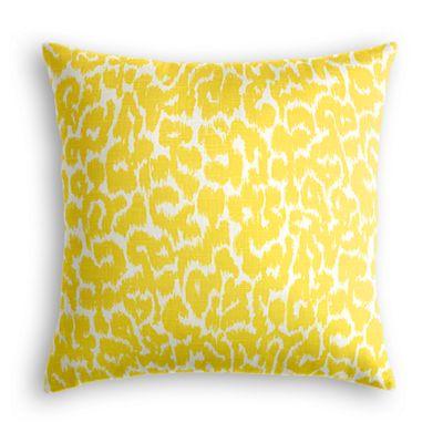 Yellow Leopard Print Euro Sham