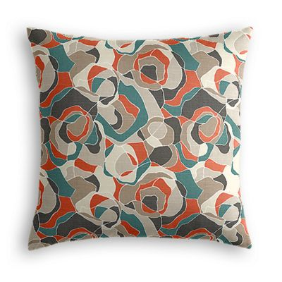 Red Orange Abstract Euro Sham