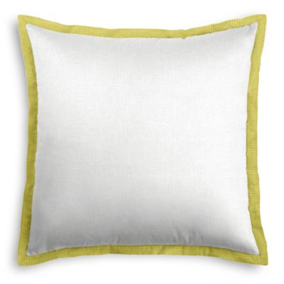 Solid Ivory Linen Sham with Citrus Trim