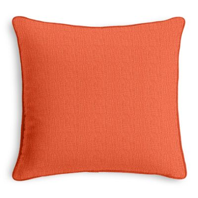 Solid Coral Linen Sham with Coral Trim