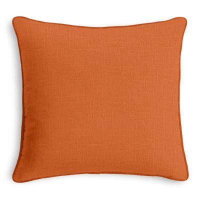 Burnt Orange Linen Sham with Burnt Orange Trim