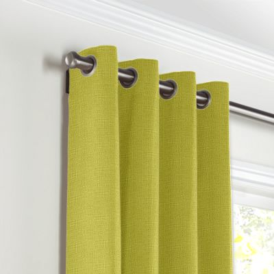 Chartreuse Green Linen Grommet Curtains